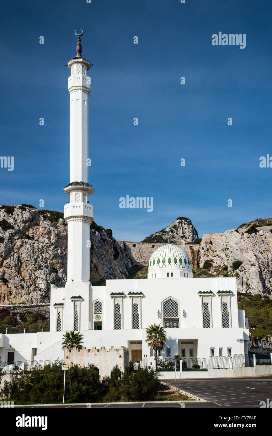 Ibrahim-al-Ibrahim Mosque, Gibraltar, Spain - Stock Image