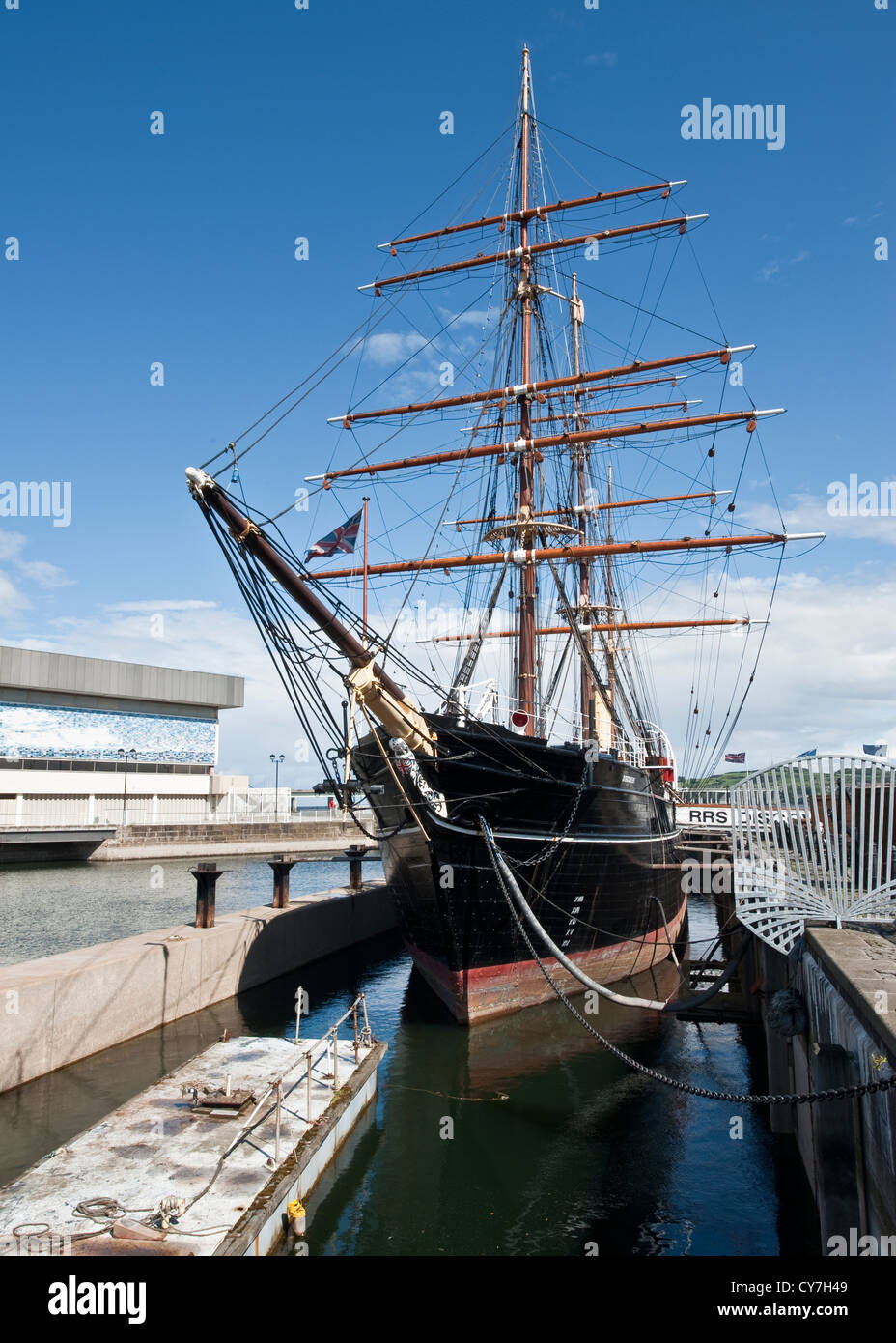 RRS Discovery in Dundee Stock Photo