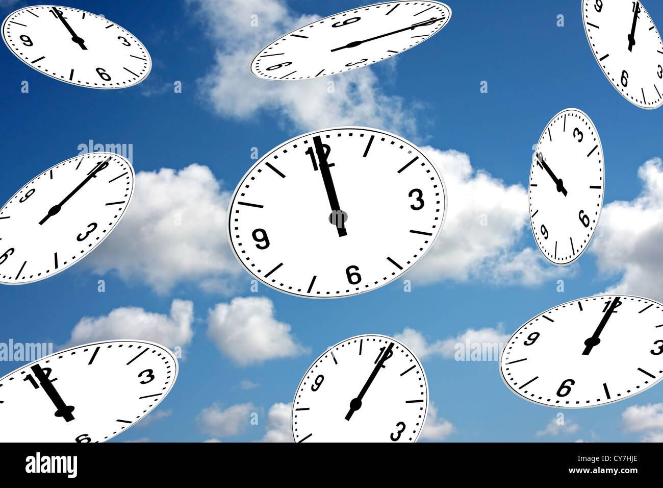 Happy New Year! It's twelve o'clock - Stock Image