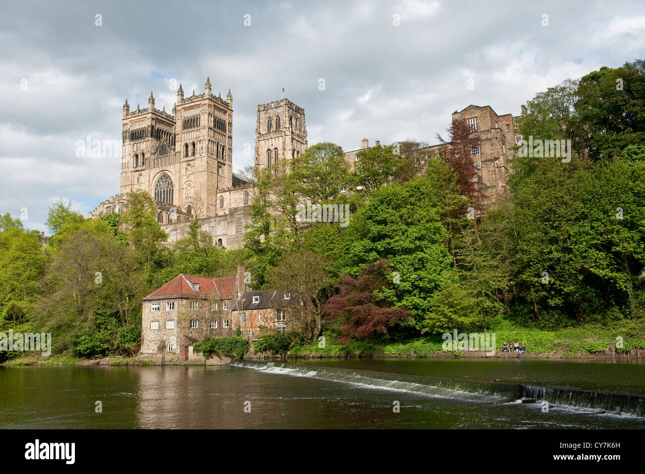 Durham Cathedral And Weir Overlooking The River Wear Durham City