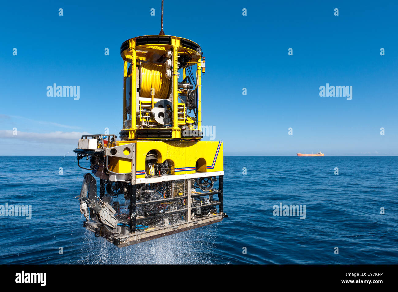 ROV, remotely Operated Vehicle Stock Photo
