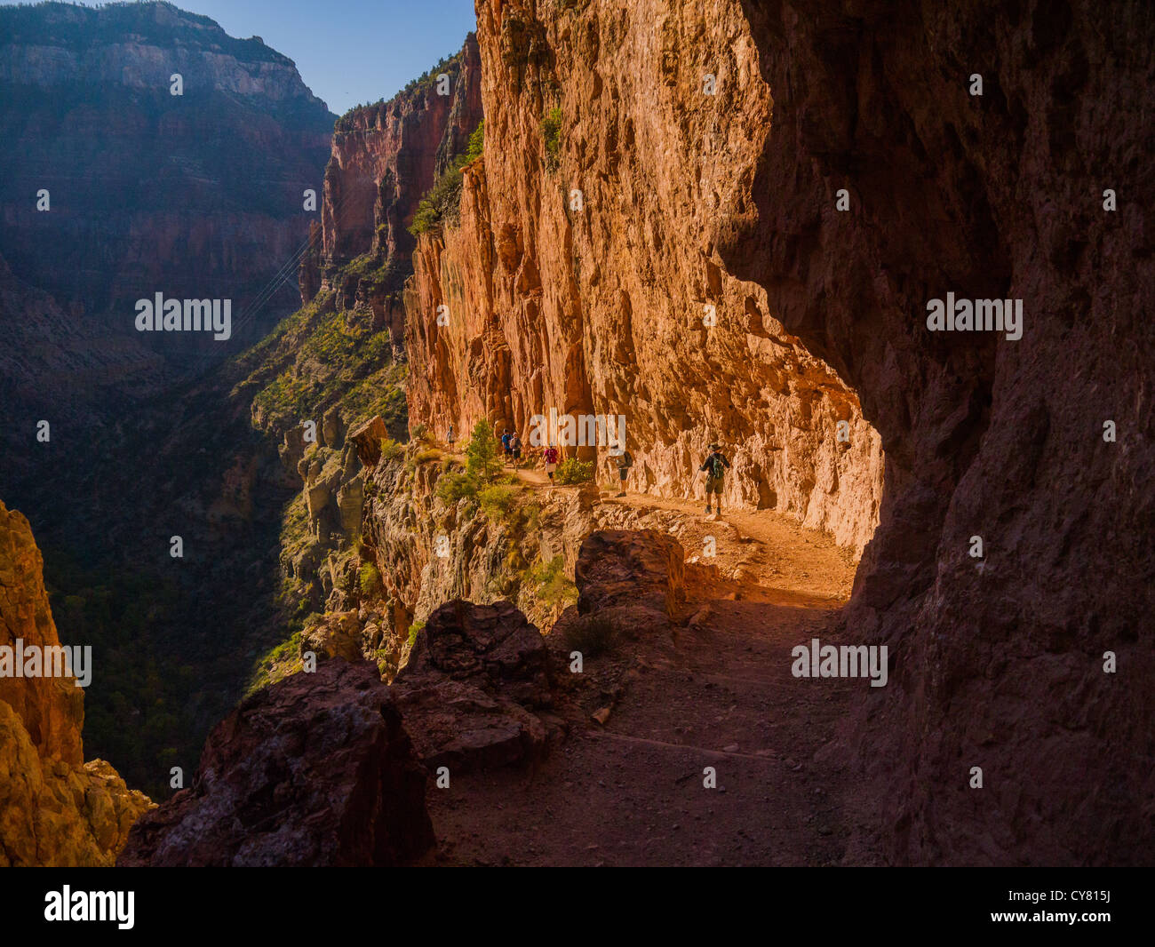 North Kaibab Trail in Grand Canyon National Park - Stock Image