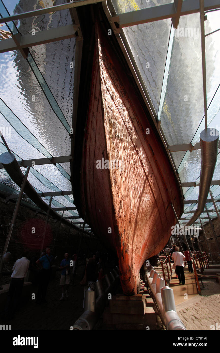SS Great Britain in Dry Dock launched in 1843 the SS Great Britain, designed by I K Brunel was the first trans Atlantic - Stock Image