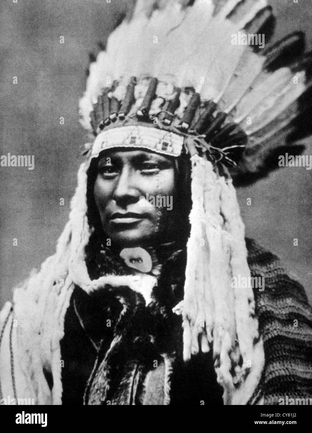 Rain in the Face, Hunkpapa Sioux Chief, Portrait - Stock Image