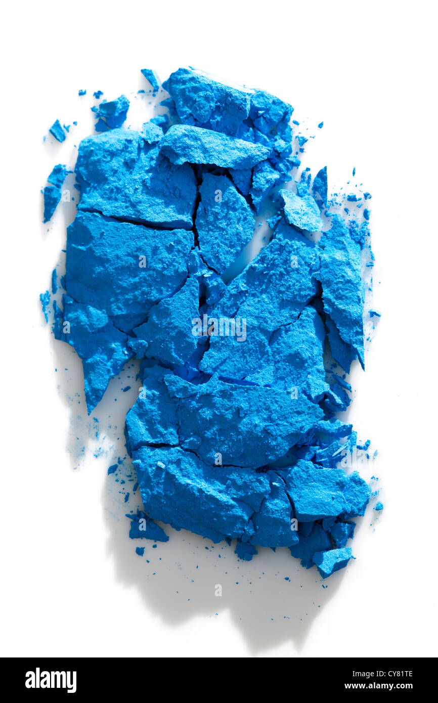 Blue Crumpled Eyeshadow - Stock Image
