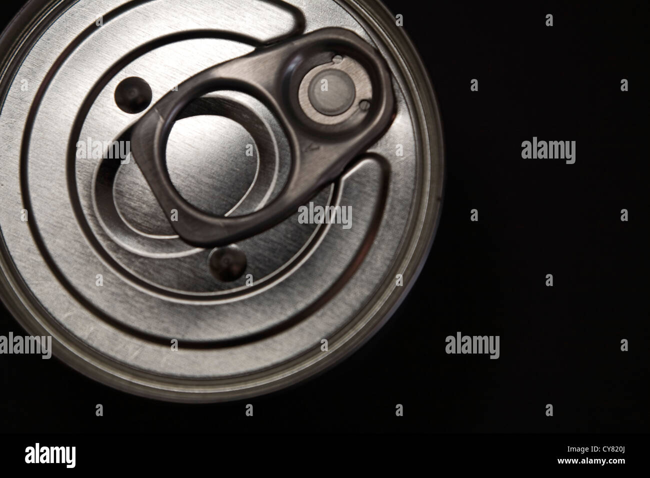 Can With Pull-Tab, High Angle View - Stock Image