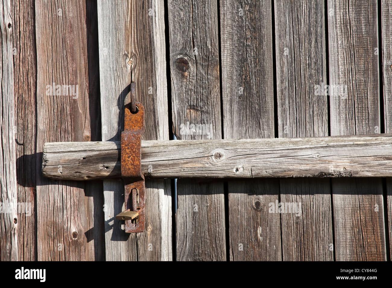 old barn door surface Stock Photo