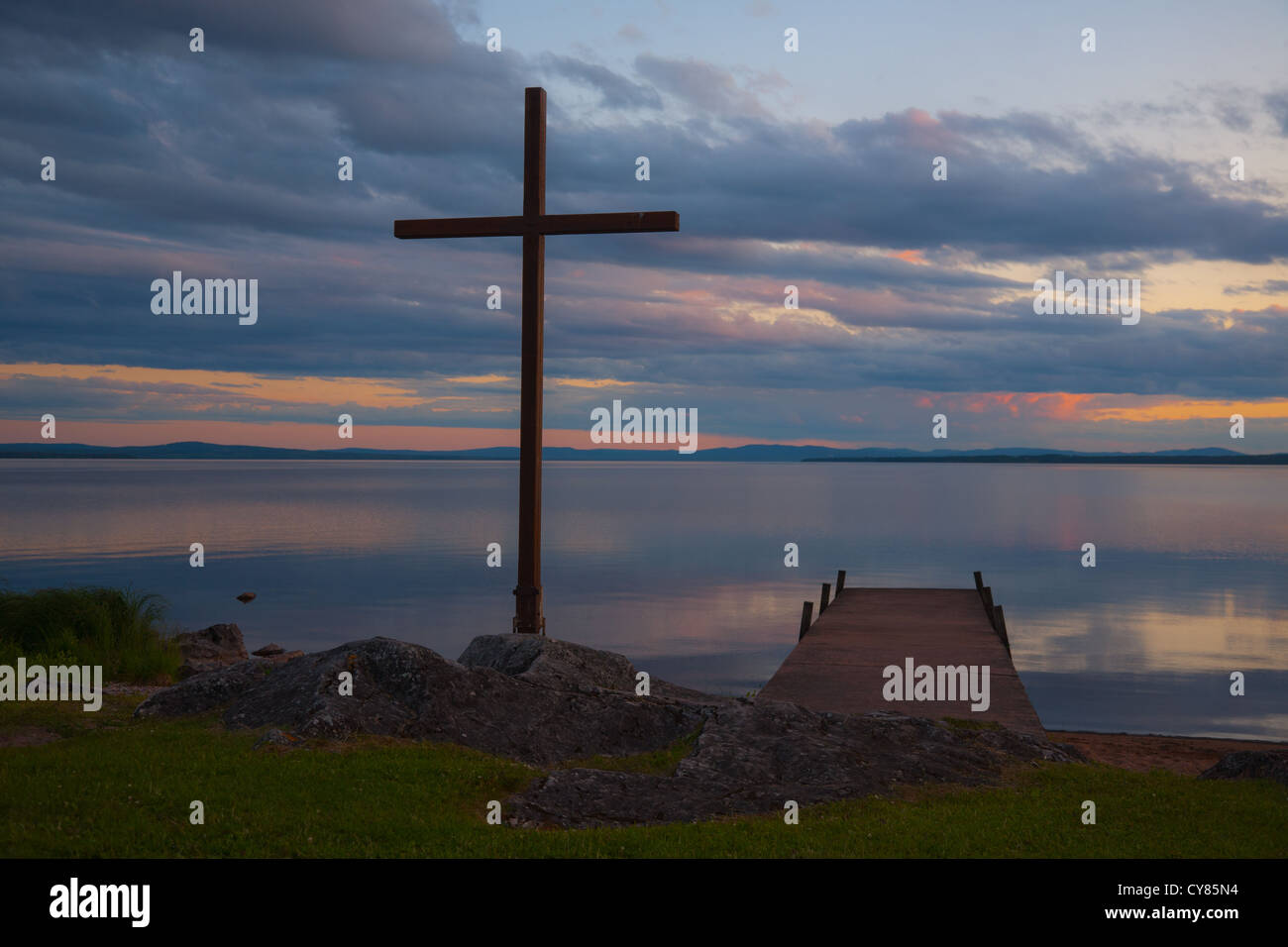 Cross by Rattvik's church, Dalarna, Sweden - Stock Image