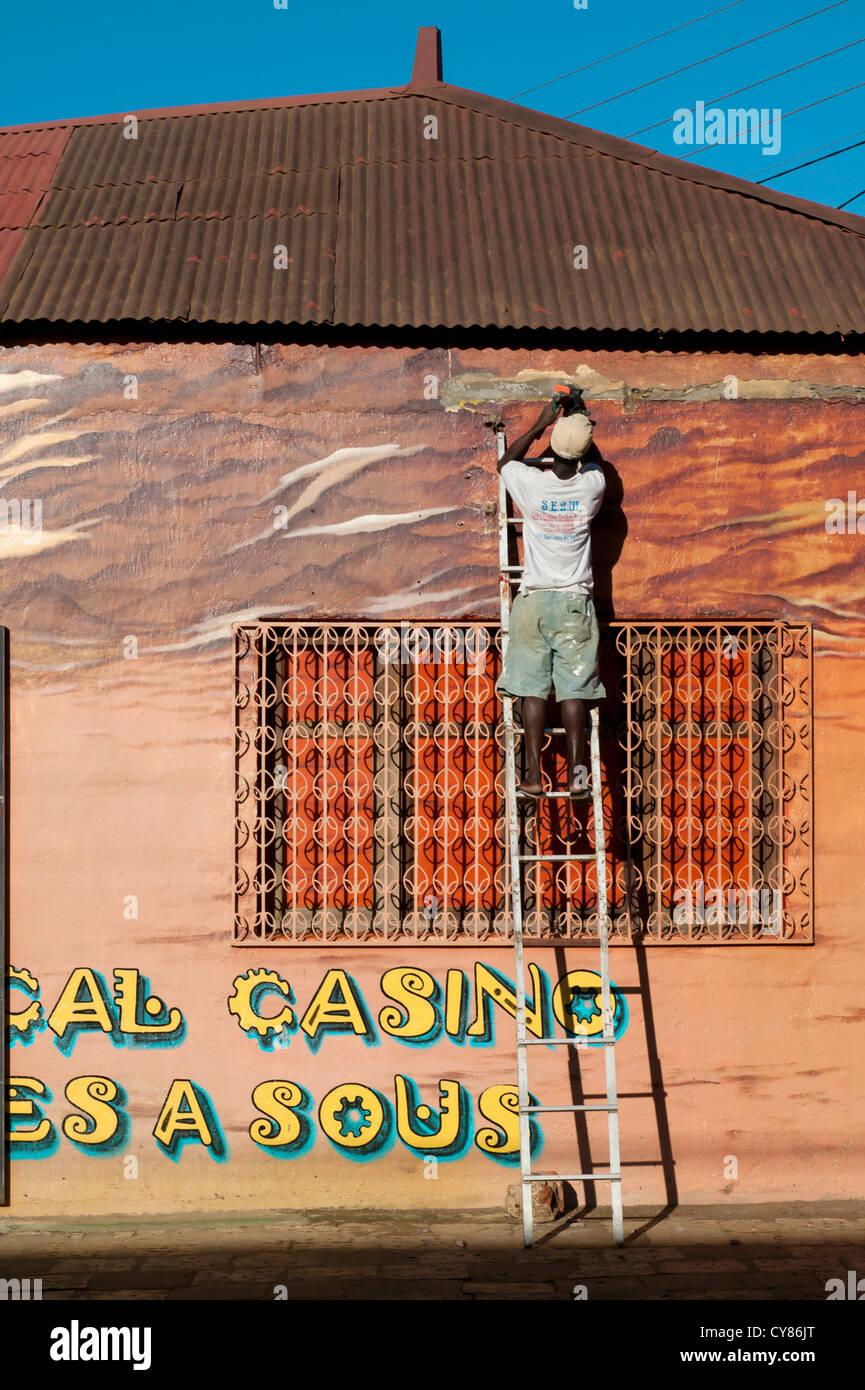 A Casino, Suffren Street,Diego Suarez, Madagascar - Stock Image