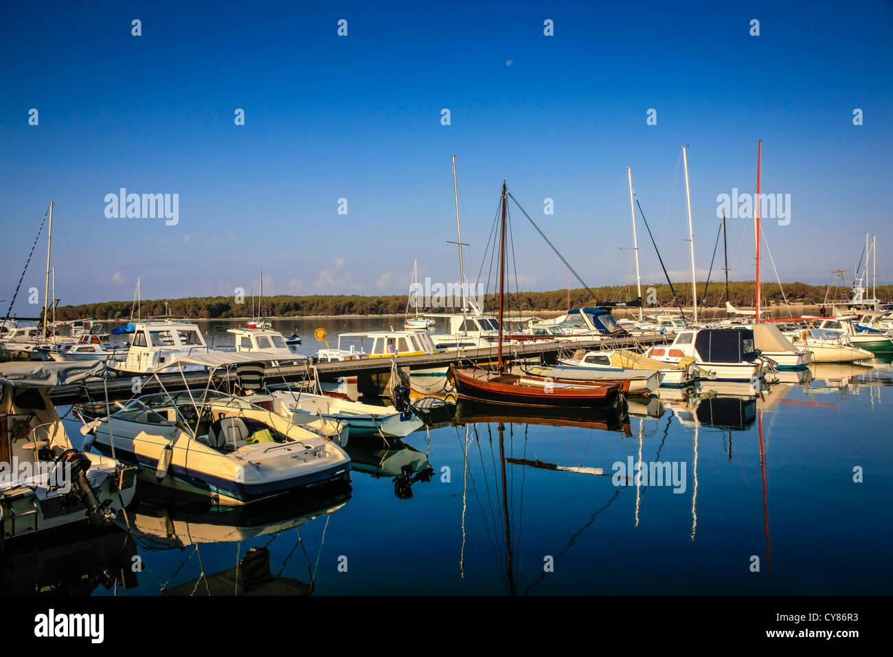Punat Marina on the Croatian island of Krk Stock Photo