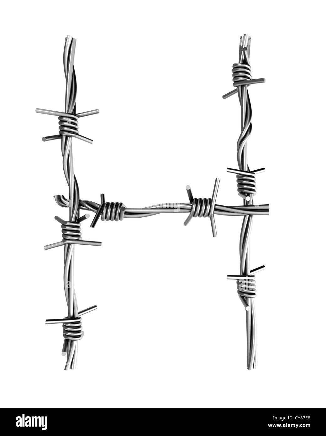 Barbed Wire Letter H - WIRE Center •
