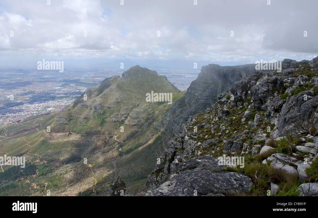 View from Table mountain National Park, Cape town, South africa. - Stock Image