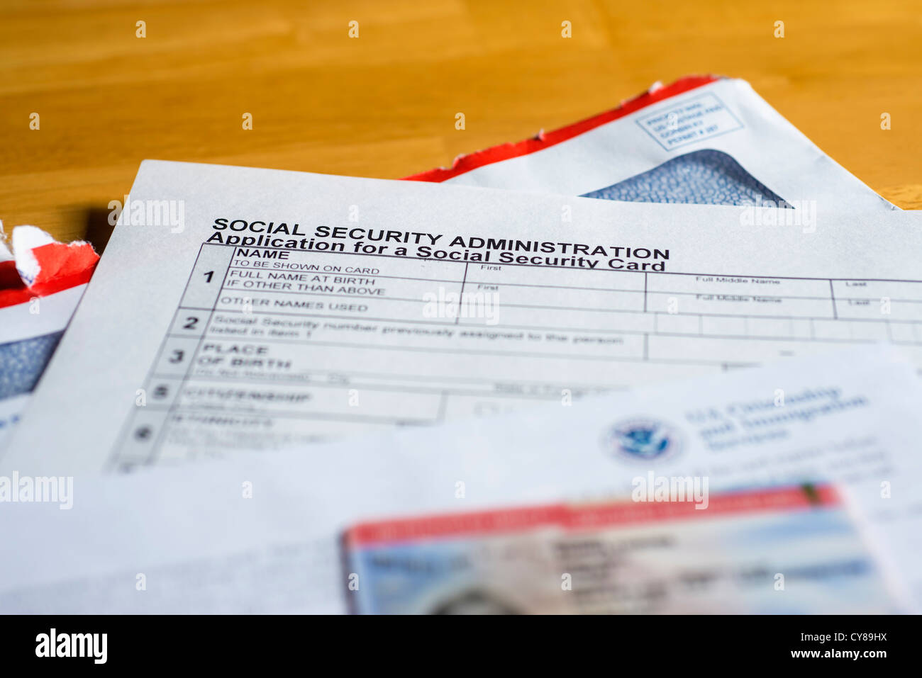 ssn application form and work permit employment authorization document paperwork