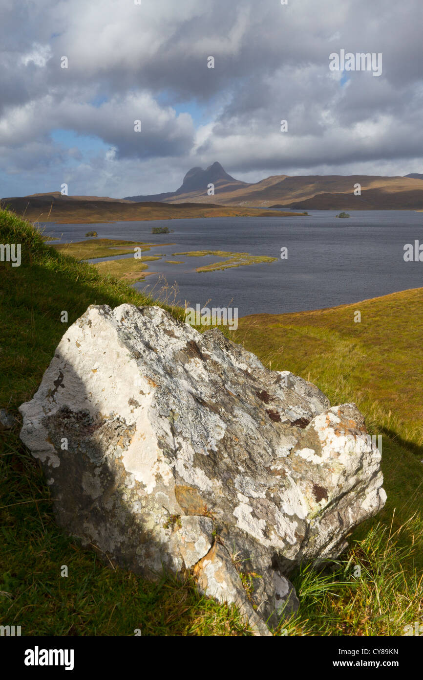 View of Suilven in Inverpolly - Stock Image