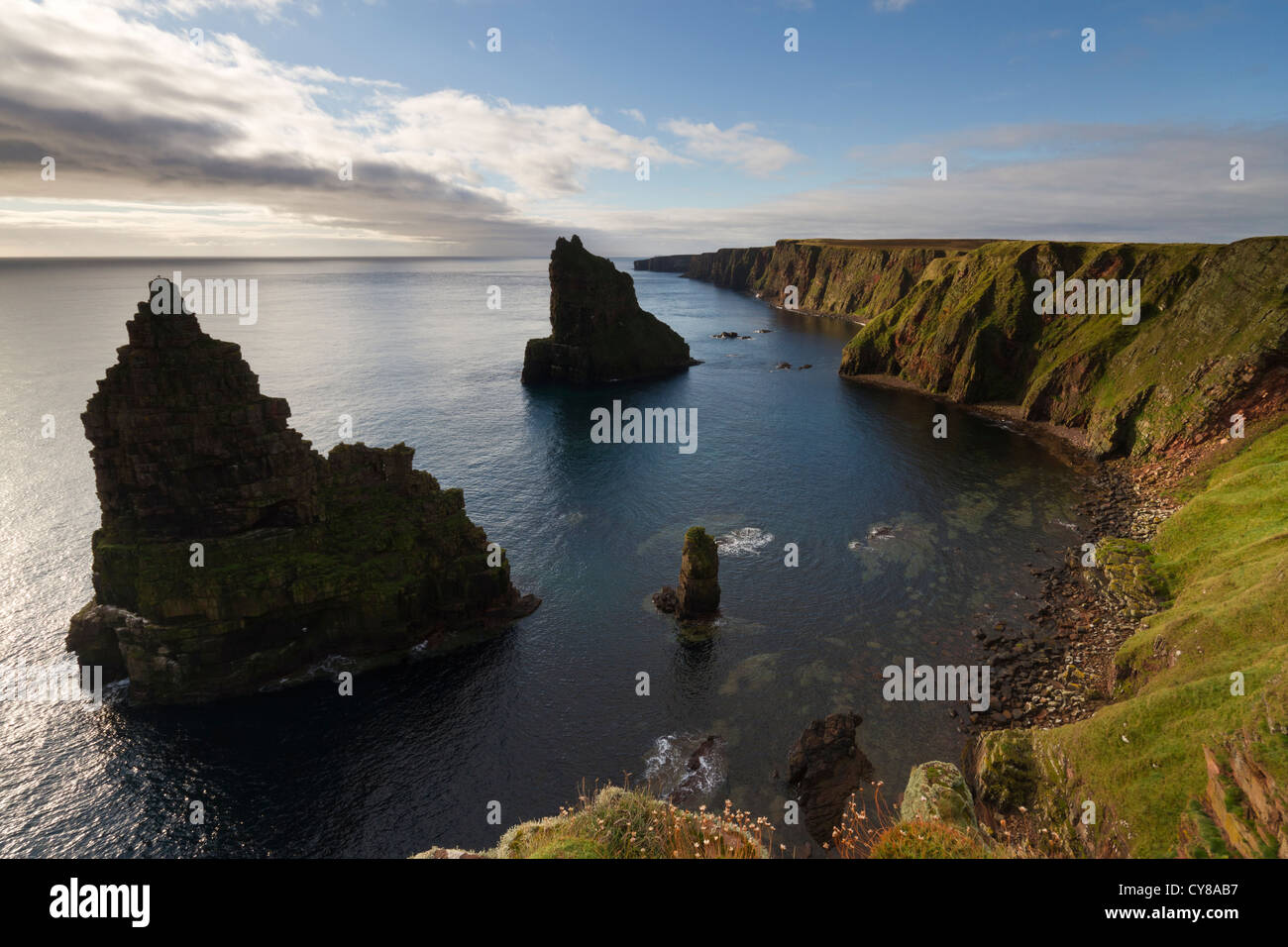 Caithness, Duncansby sea stacks - Stock Image