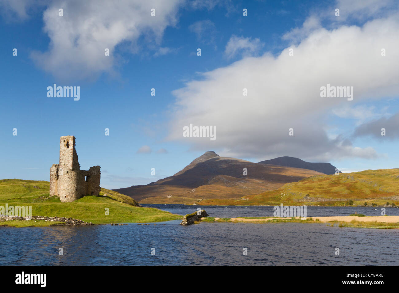 Ardwreck Castle in Sutherland - Stock Image