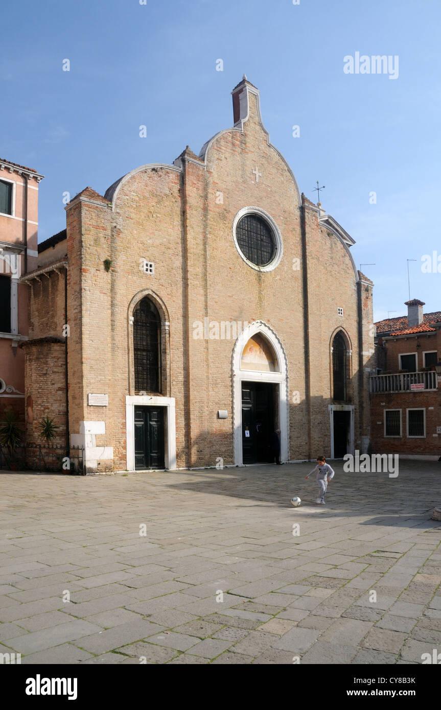 The Church of San Giovanni in Bragora, where Antonio Vivaldi was baptised, in Venice, Veneto, Italy - Stock Image
