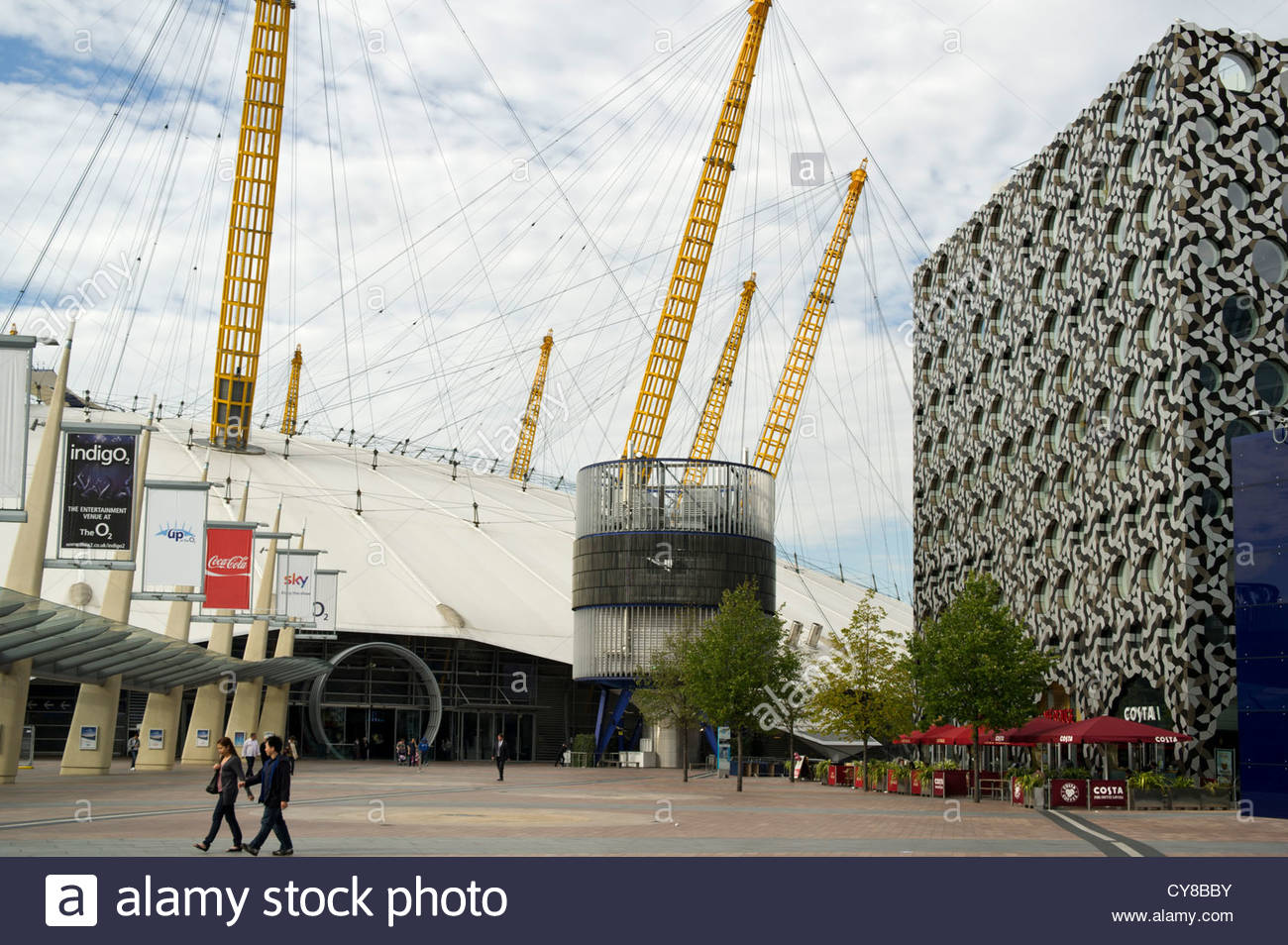 The Millenium Dome, now the O2 Arena in North Greenwich, London - Stock Image