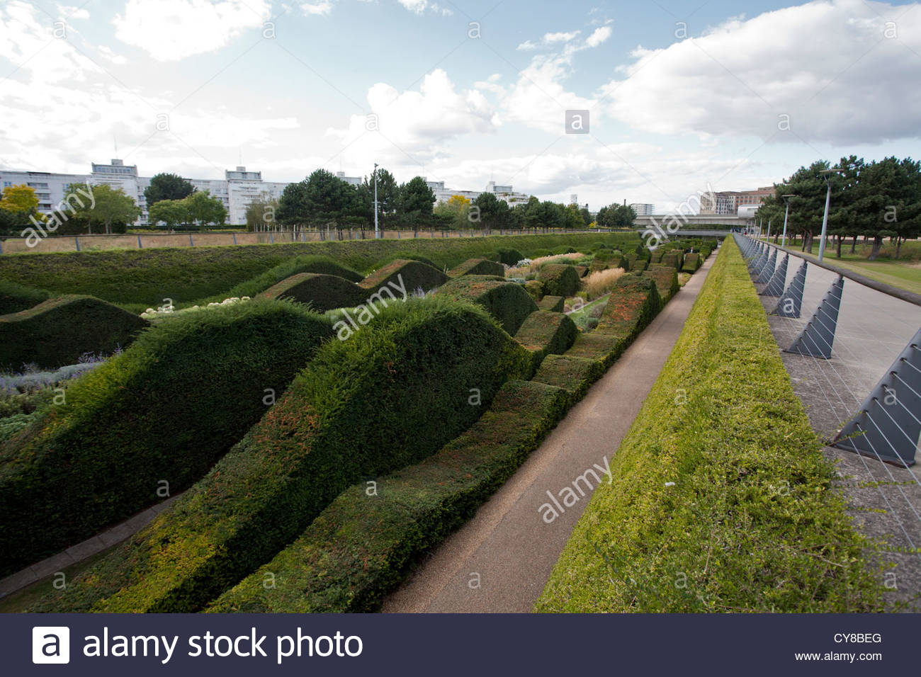 Thames Barrier Park, Silvertown, London. The park was opened in 1982 - Stock Image