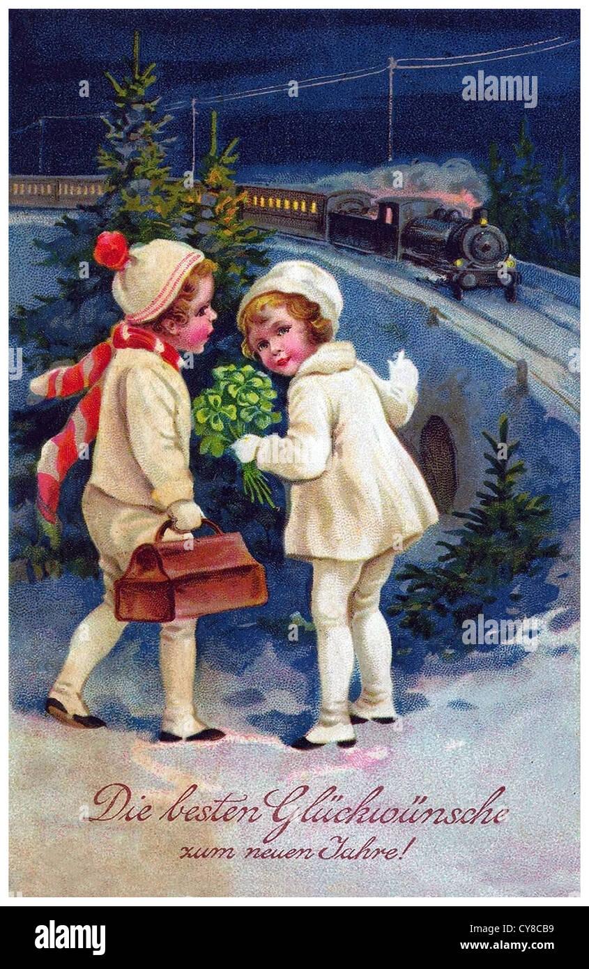 Открытка новогодняя начала 20 века