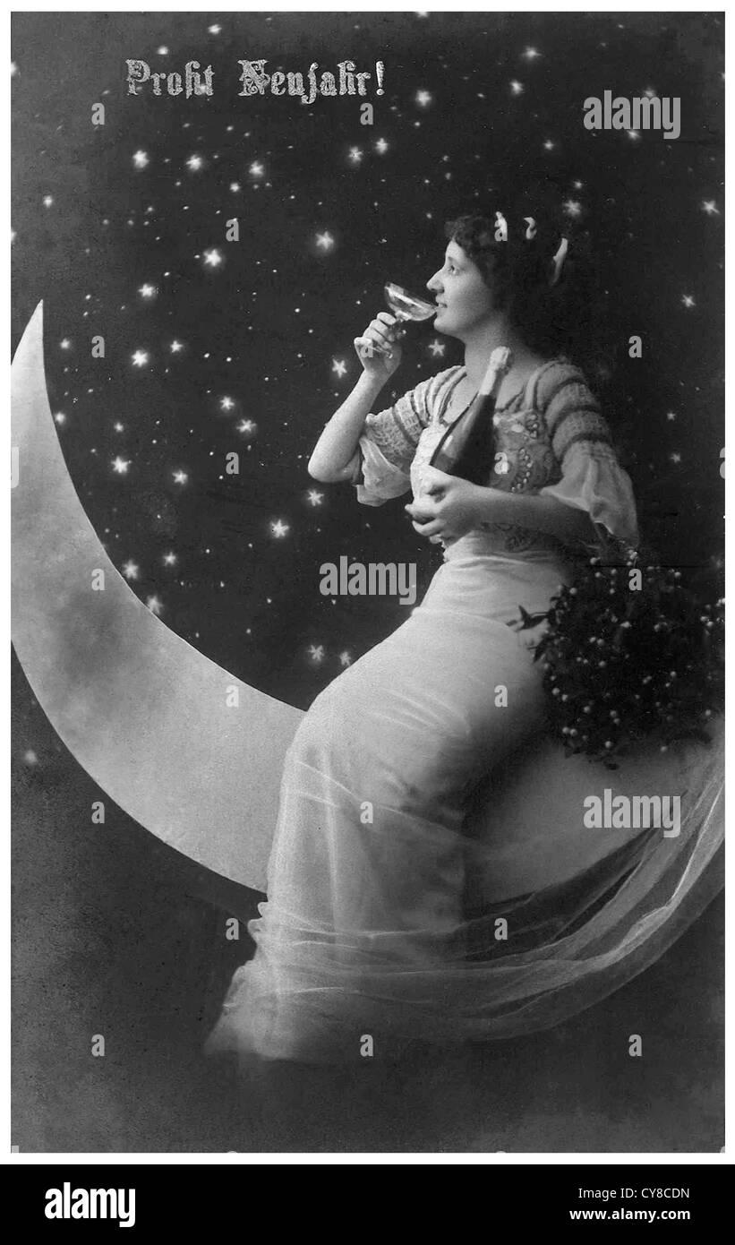 Mrs. Moon - Stock Image