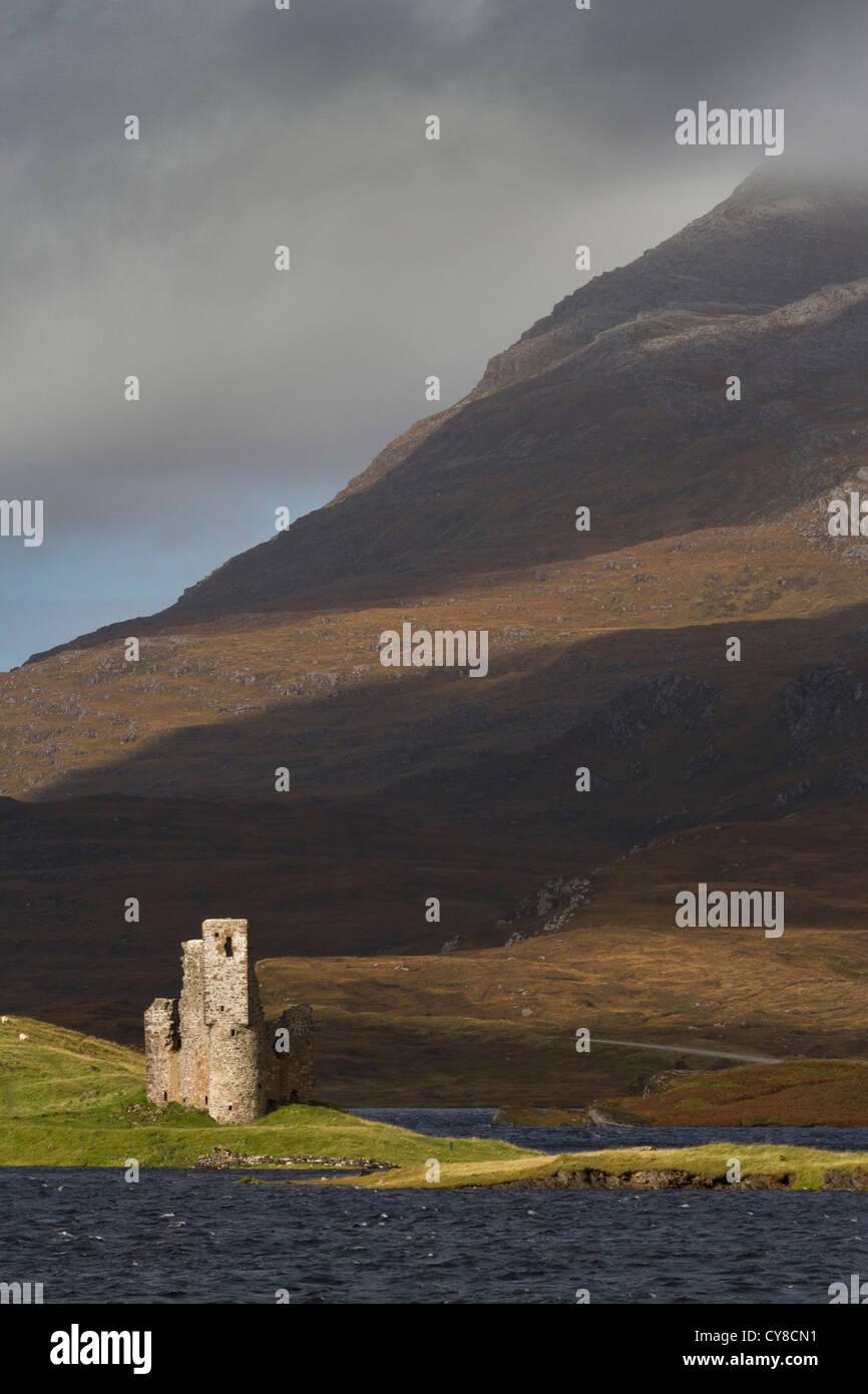 Ardwreck Castle, Assynt - Stock Image