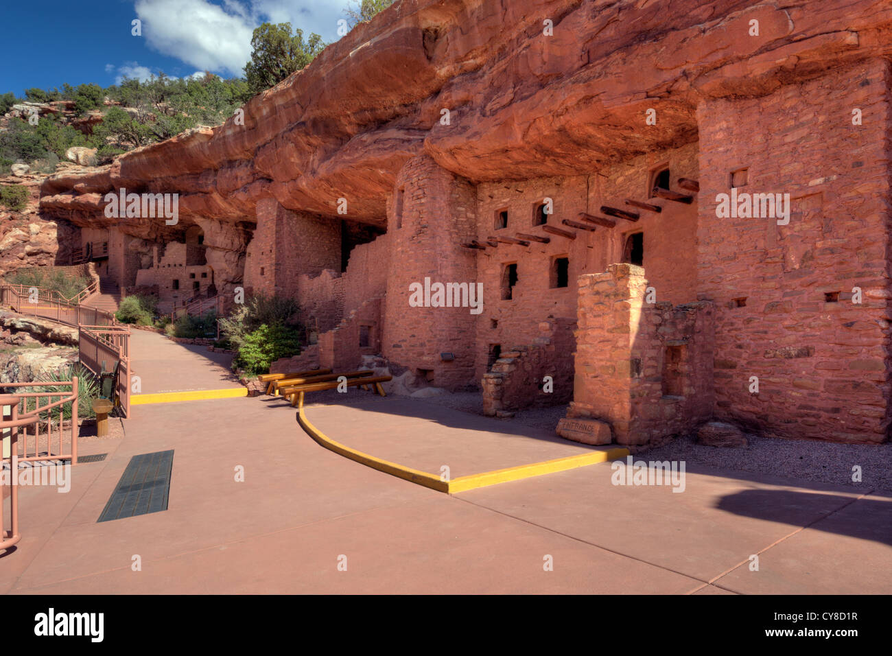 Manitou Cliff Dwellings, a tourist attraction near Manitou Springs, Colorado. - Stock Image