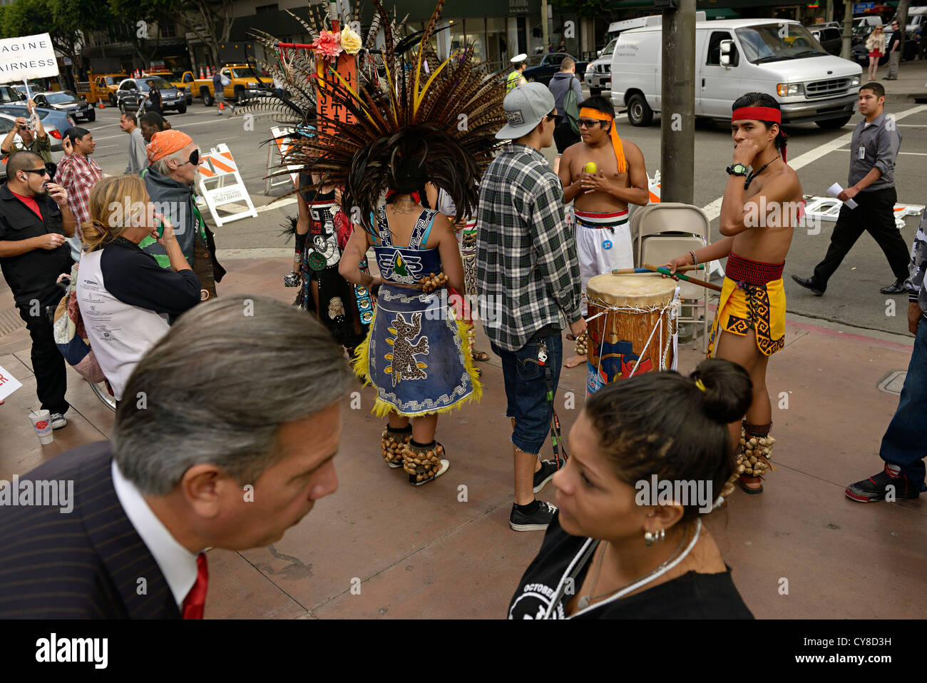 anti police violence demonstration los angeles usa - Stock Image