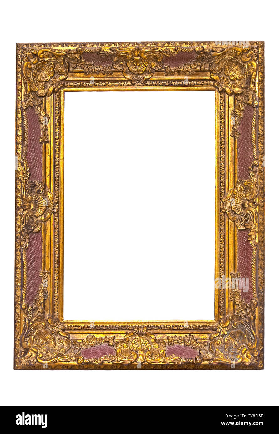 Old wooden carved and gilded frame Stock Photo: 51202410 - Alamy