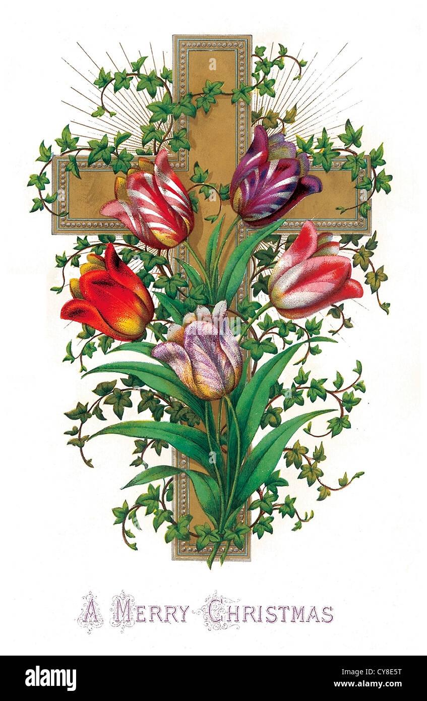 Christian cross - Stock Image