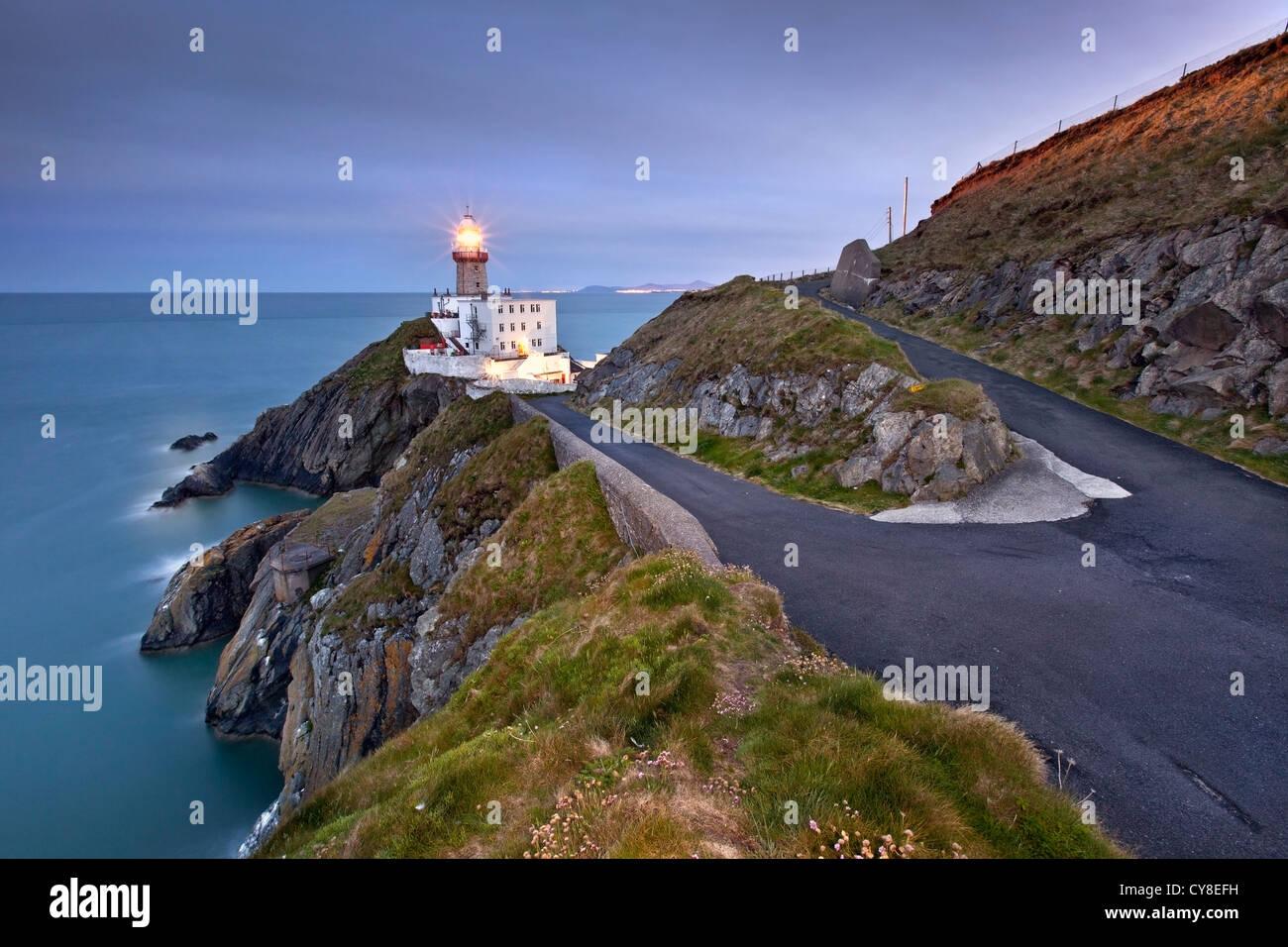 Baily Lighthouse captured at Dusk. - Stock Image