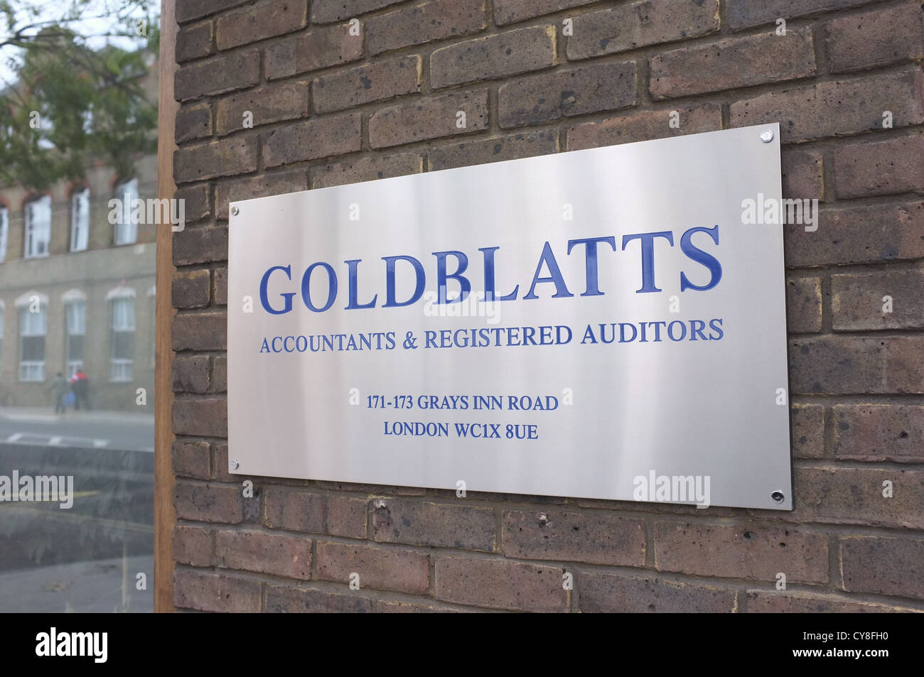 Goldblatts Accountants & Auditors in London - Stock Image