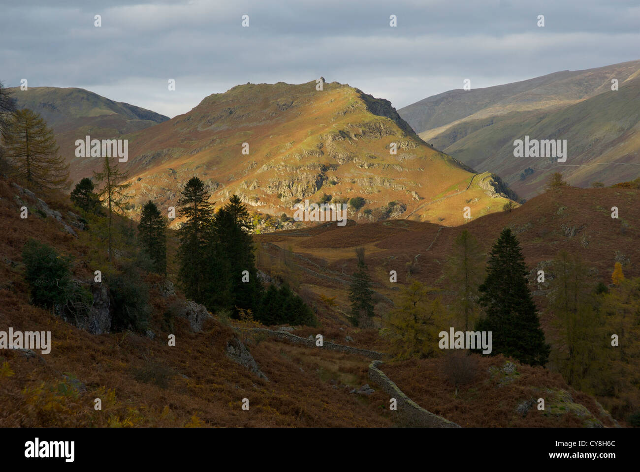 Helm Crag, near Grasmere, Lake District National Park, Cumbria England UK - Stock Image
