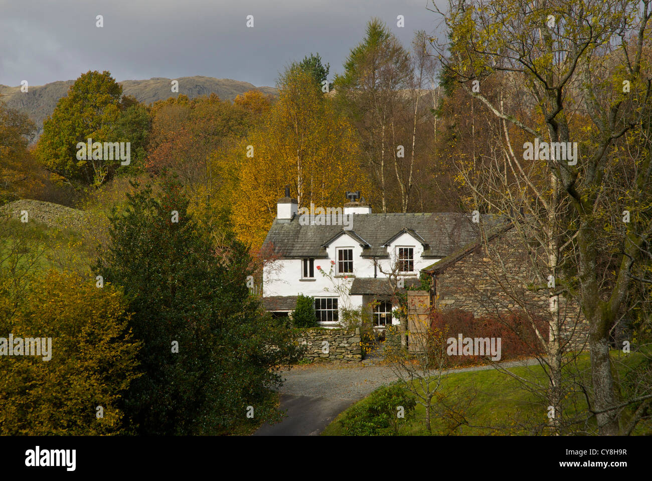 House near Grasmere, Lake District National Park, Cumbria England UK - Stock Image