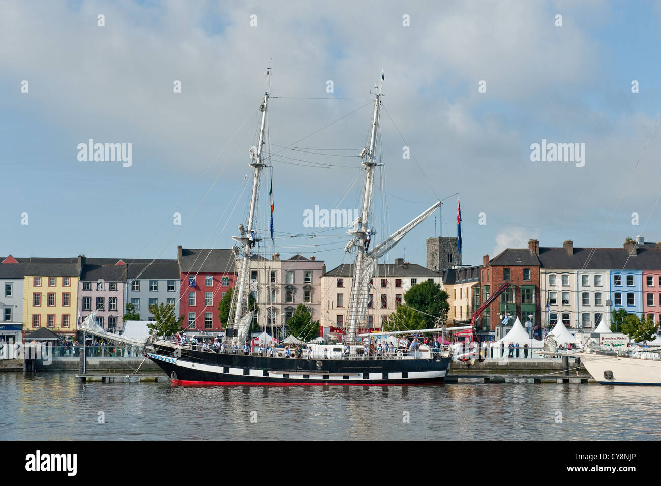 Tall ships in Waterford harbour, SE Ireland - Stock Image