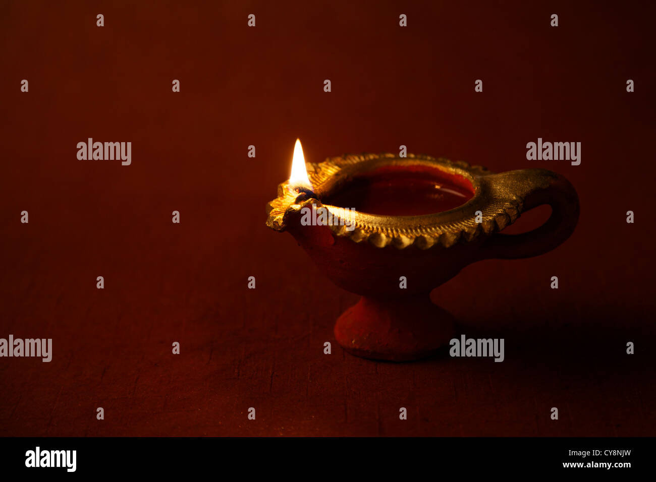 Decorative lamps on festive occasion of Diwali - Stock Image