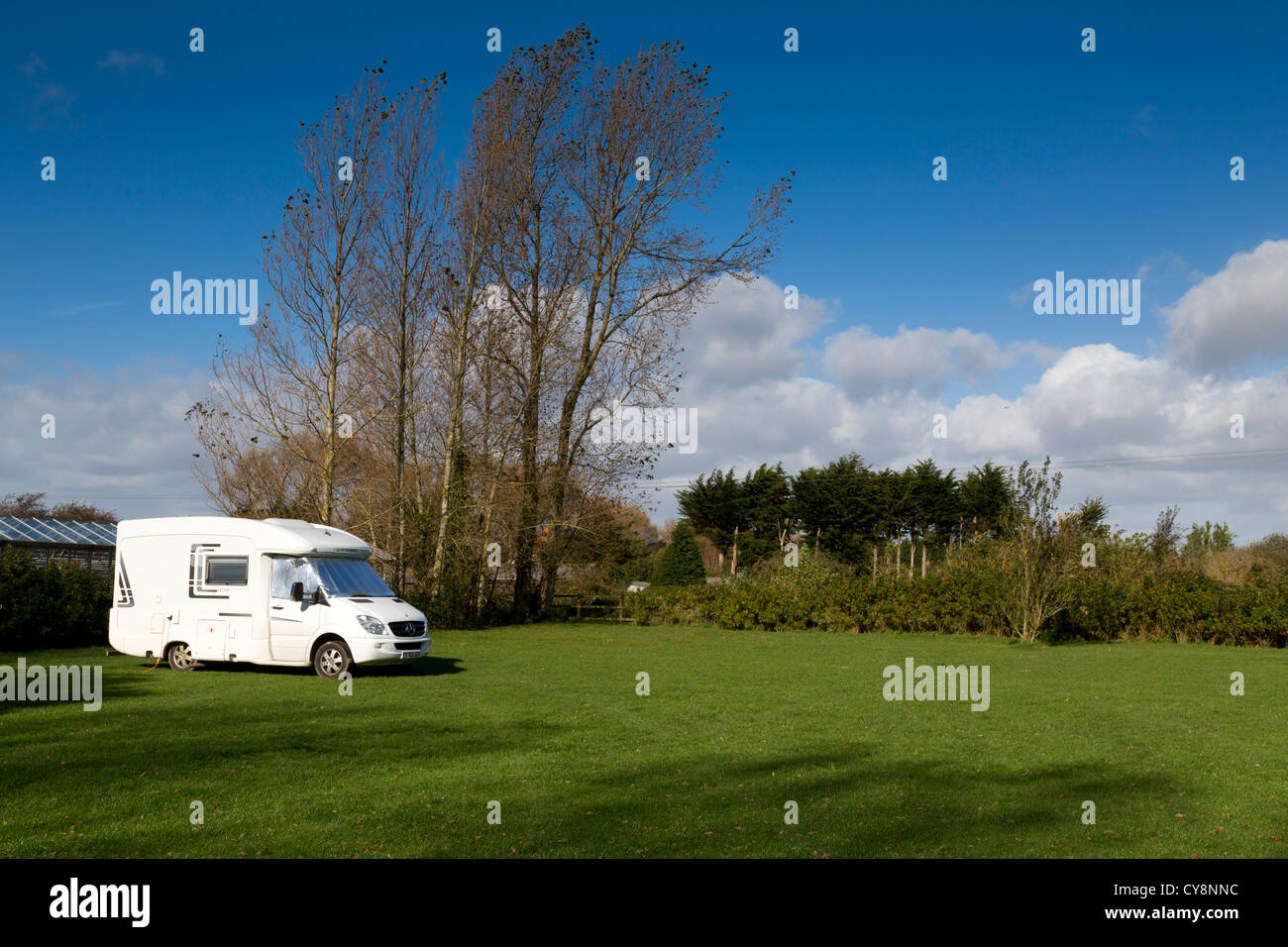Pagham Bird Pond; Certified Location (CL); camp site; West Sussex; UK - Stock Image