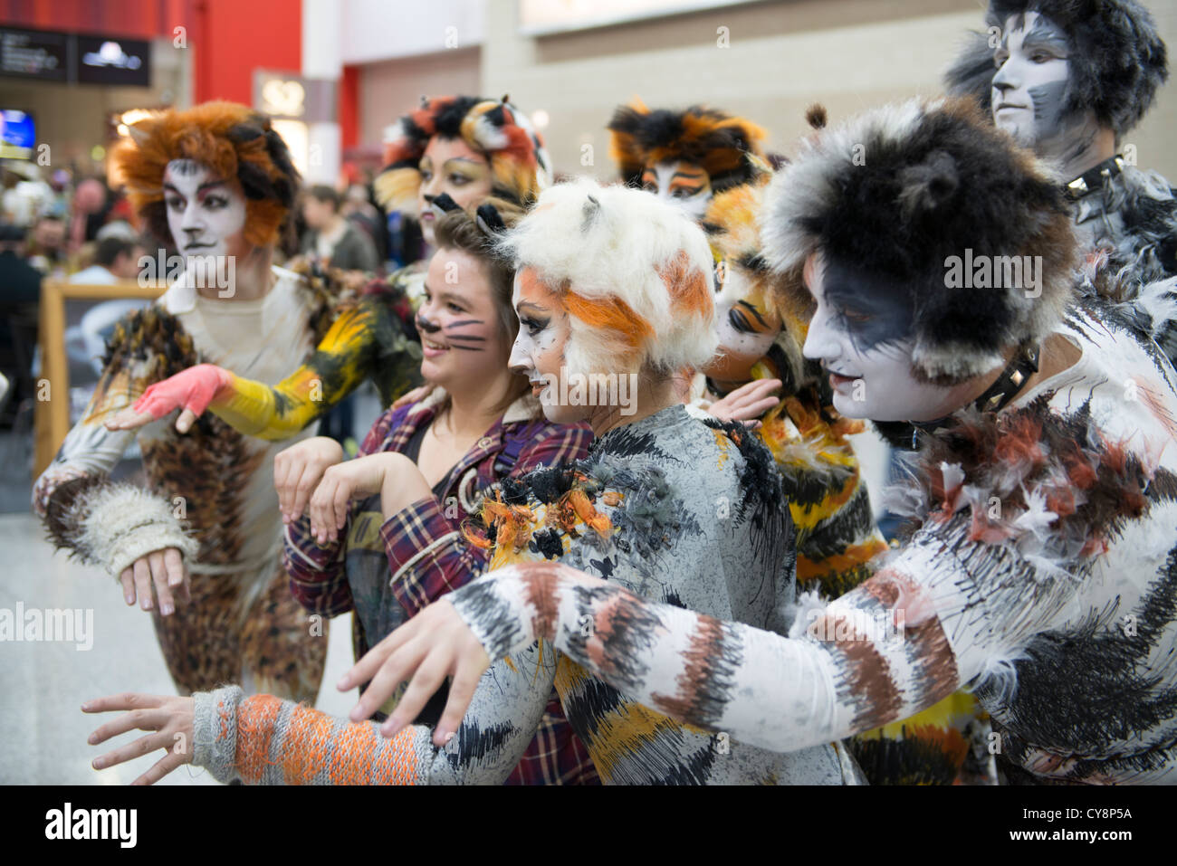 LONDON UK - OCTOBER 27 Cosplayers impersonating the musical Cats pose for photographers at  sc 1 st  Alamy & Cats Musical Costume Stock Photos u0026 Cats Musical Costume Stock ...