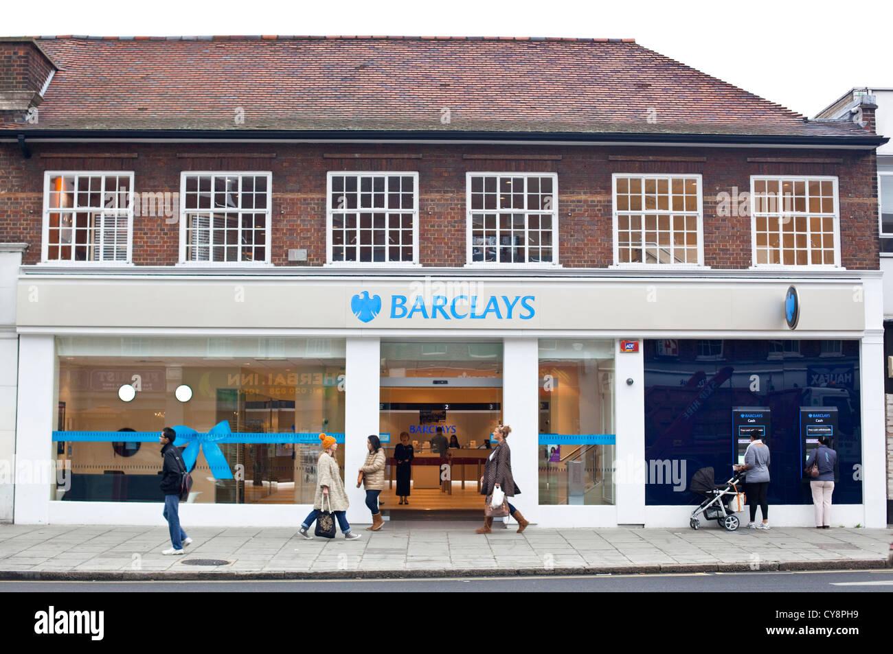 Barclays bank branch, Edgware, England, UK - Stock Image