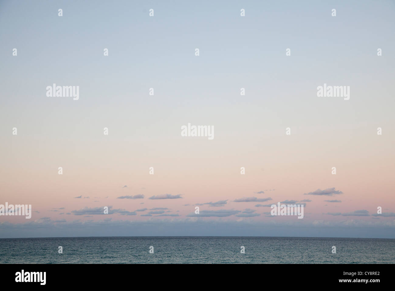 Sunrise over sea - Stock Image