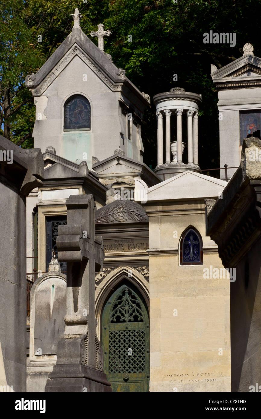 pere lachaise cemetery - Stock Image