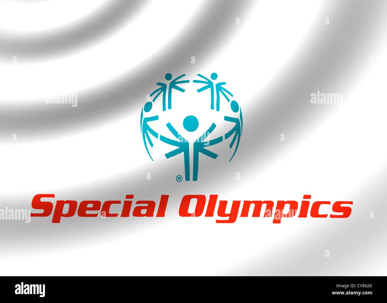 Special Olympics games logo symbol flag Stock Photo