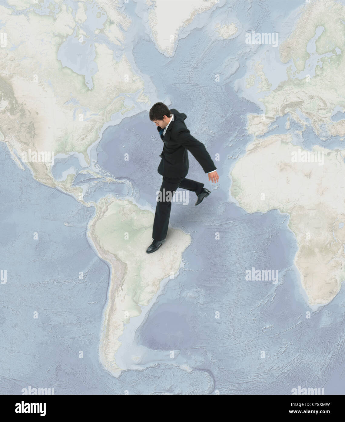 International business professionals take risks investing in emerging economies - Stock Image
