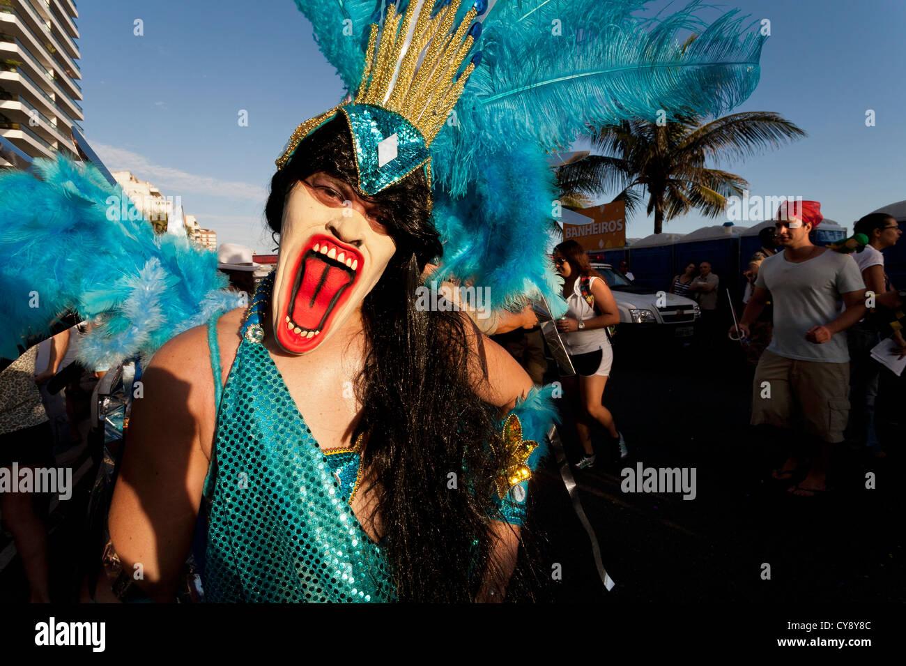 Banda de Ipanema Street Carnival Rio de Janeiro Brazil Stock Photo