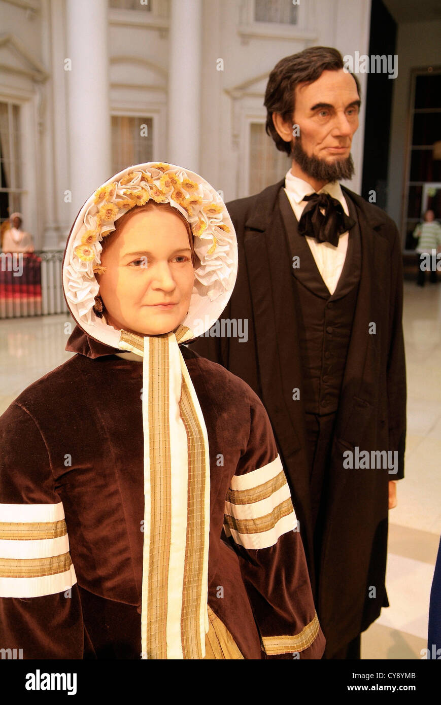 Springfield Illinois USA State Capital and home of the Lincoln Library and Museum. Mary Todd and Abraham Lincoln - Stock Image