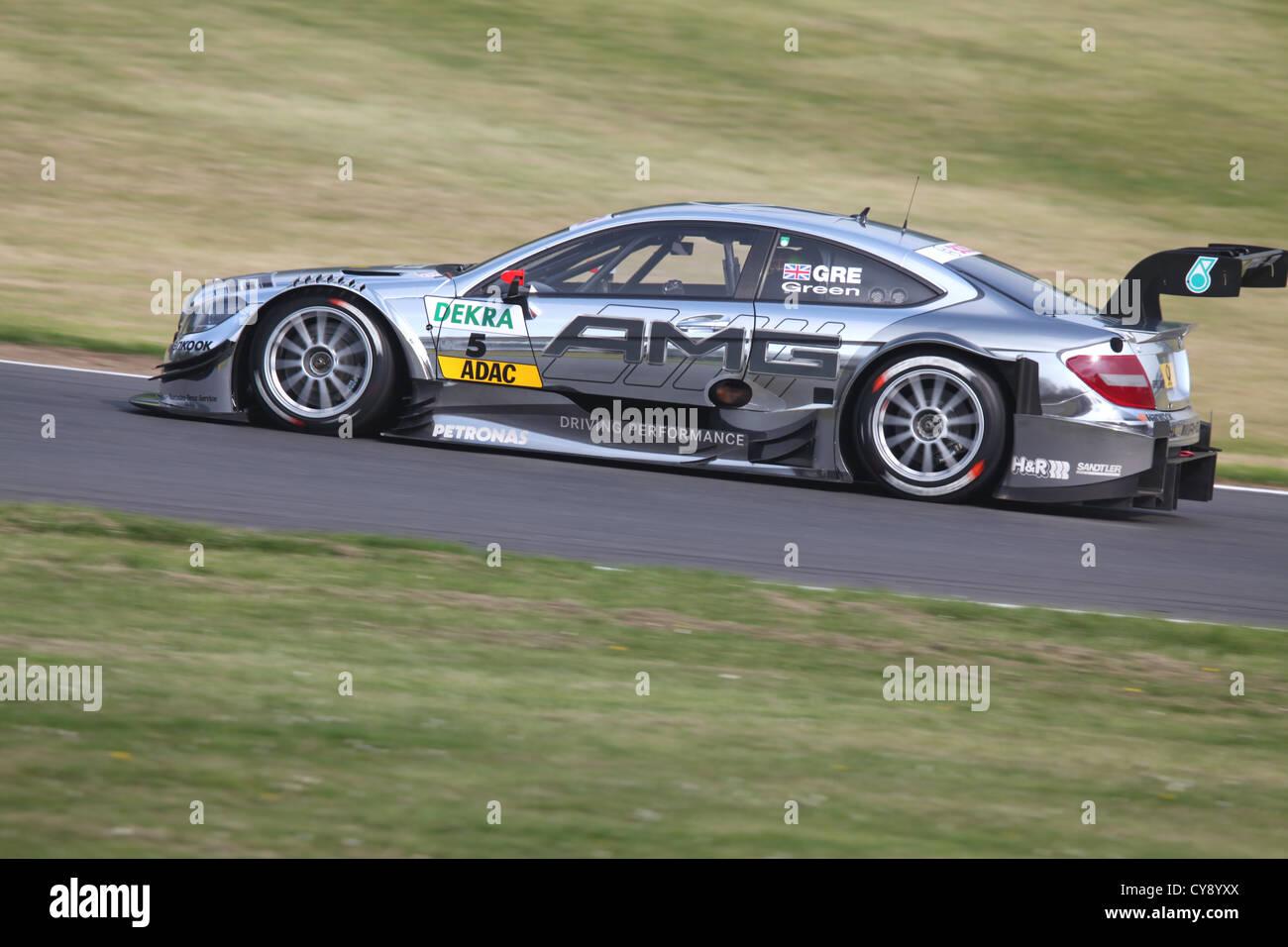 Mercedes DTM racing car at Brands Hatch 2012, England. - Stock Image