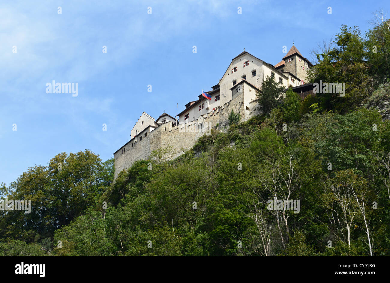 Vaduz Castle has its roots in the 12th century Stock Photo