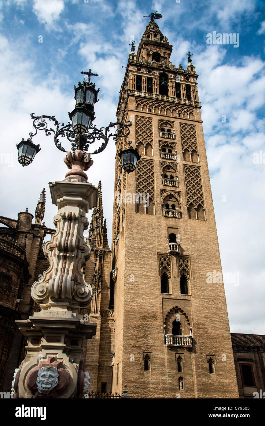 The Giralda tower, Seville, Andalusia, Spain - Stock Image