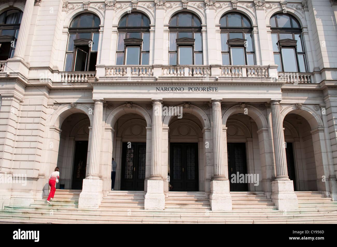 National Theatre, Sarajevo, Bosnia and Herzegovina - Stock Image