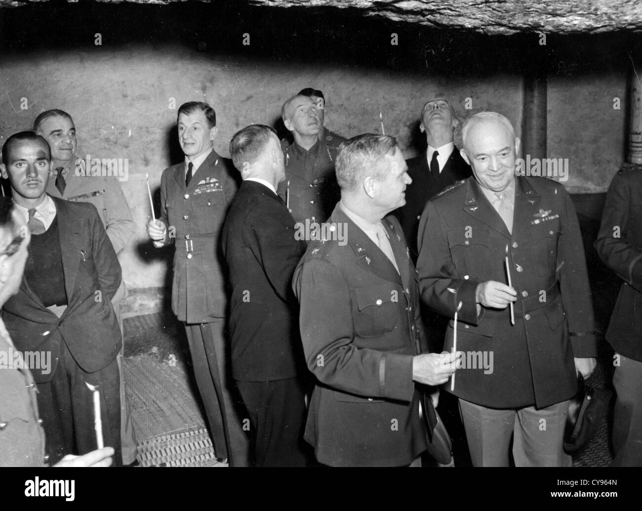 ALLIED LEADERS in the Dome of the Rock, Jerusalem, on way back from  Tehran Conference in December 1943. Photo Lewis - Stock Image